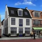 Nieuwbouw 2 appartementen en winkel